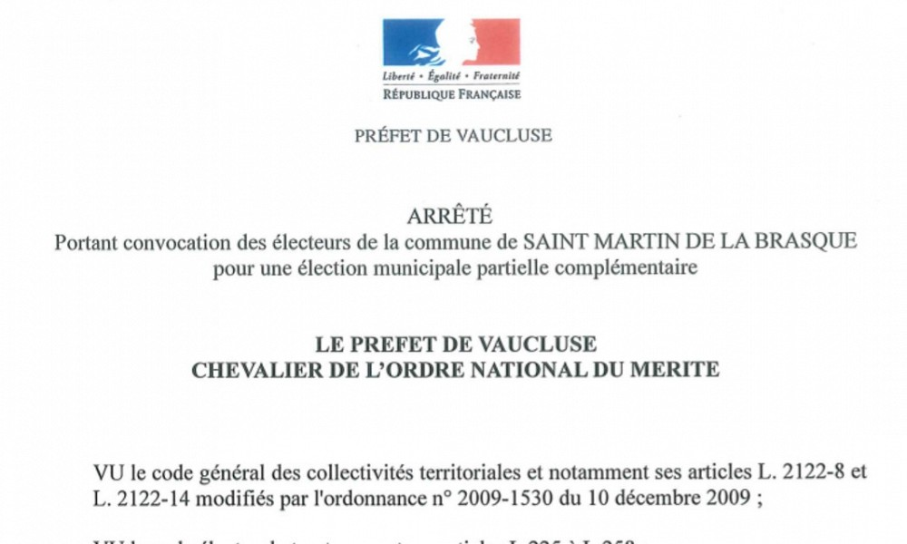 Élection municipale partielle