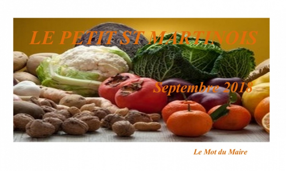 Le Petit Saint Martinois de Septembre 2018
