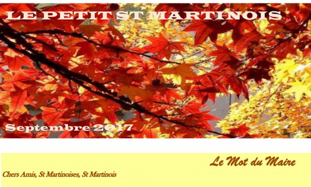 Le Petit Saint Martinois de septembre 2017